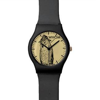 Grammar Owl Says Whom Wrist Watch