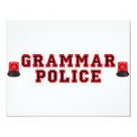 Grammar Police 11cm X 14cm Invitation Card