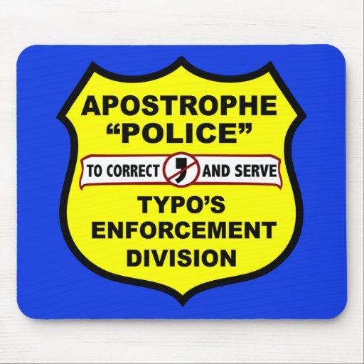 Grammar Police Apostrophe Mousepad Zazzle