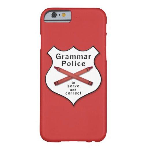 Grammar Police Badge iPhone 6 Case