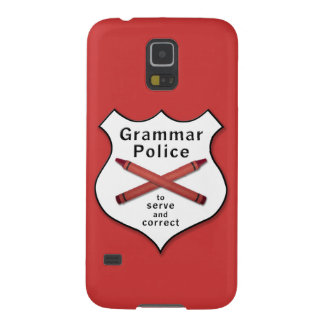 Grammar Police Badge Cases For Galaxy S5