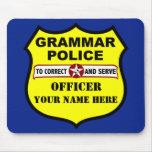 Grammar Police Customisable Mousepad