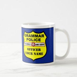 Grammar Police Customisable Mug
