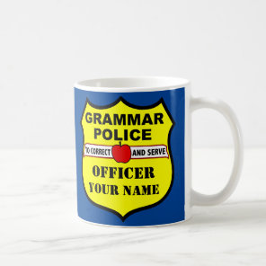 Grammar Police Customisable Teacher Mug
