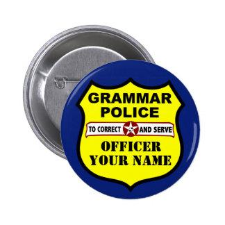 Grammar Police Customizable Button