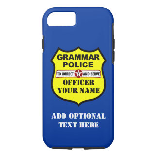 Grammar Police Customizable iPhone 7 case