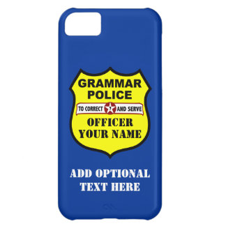 Grammar Police Customizable iPhone Case iPhone 5C Cover