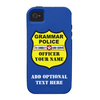 Grammar Police Customizable iPhone Case iPhone 4 Cases