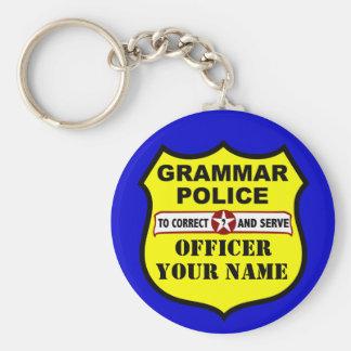 Grammar Police Customizable Keychain