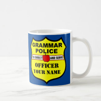 Grammar Police Customizable Teacher Mug