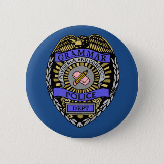Grammar Police Dept Badge Pencil Eraser