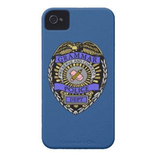 Grammar Police Dept Badge Pencil Eraser Case-Mate iPhone 4 Case