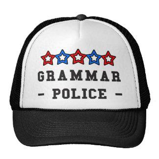 Grammar Police Mesh Hats