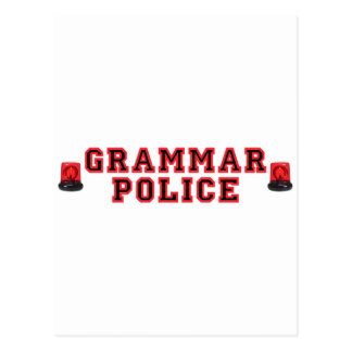 Grammar Police Postcard