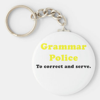 Grammar Police to Correct and Serve Keychain