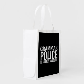 Grammar Police To Correct And Serve Reusable Grocery Bag