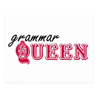 Grammar Queen Postcard