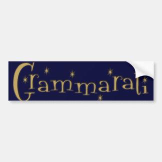 Grammaratti Bumper Sticker