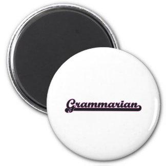 Grammarian Classic Job Design 6 Cm Round Magnet