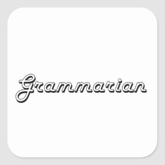 Grammarian Classic Job Design Square Sticker