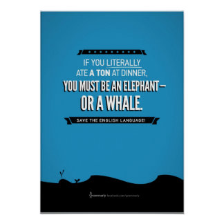Grammarly Whale Poster