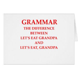 grammer card