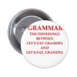 grammer pinback button