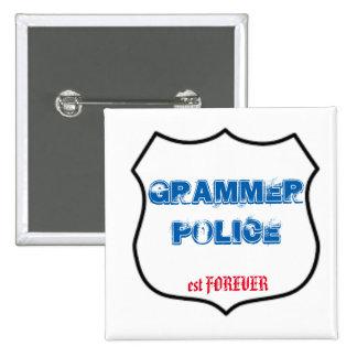 Grammer Police 15 Cm Square Badge