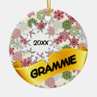 Grammie Custom Photo Christmas Ornament