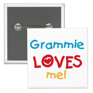 Grammie Loves Me T-shirts and Gifts 15 Cm Square Badge
