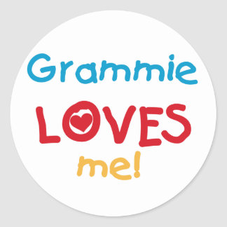 Grammie Loves Me T-shirts and Gifts Classic Round Sticker