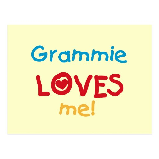 Grammie Loves Me T-shirts and Gifts Postcard