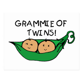 Grammie of Twins Pod Postcard