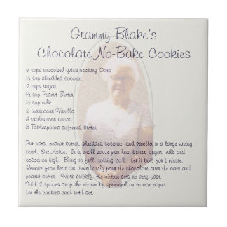 Grammy Blake's Chocolate No-Bake Cookies Small Square Tile