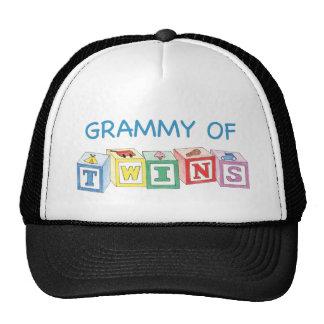 Grammy of Twins Blocks Hats