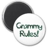 Grammy Rules 6 Cm Round Magnet