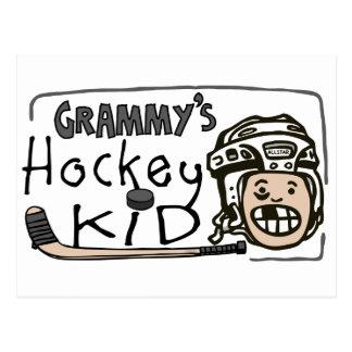 Grammy s Hockey Kid Postcard