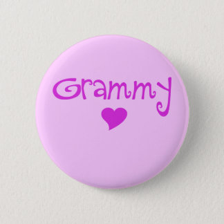 Grammy With Heart 6 Cm Round Badge