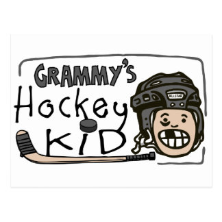 Grammy's Hockey Kid Postcard