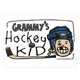 Grammy's Hockey Kid Postcard