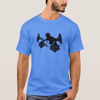 Gramophone Music - DJ & Retro Vinyl Headphones T-Shirt