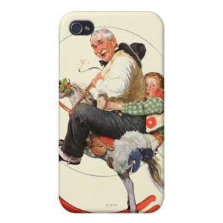 Gramps on Rocking Horse Case For iPhone 4