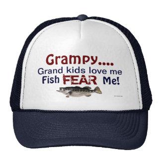 Grampy...Grand Kids Love Me Fish Fear Me Hat Trucker Hat