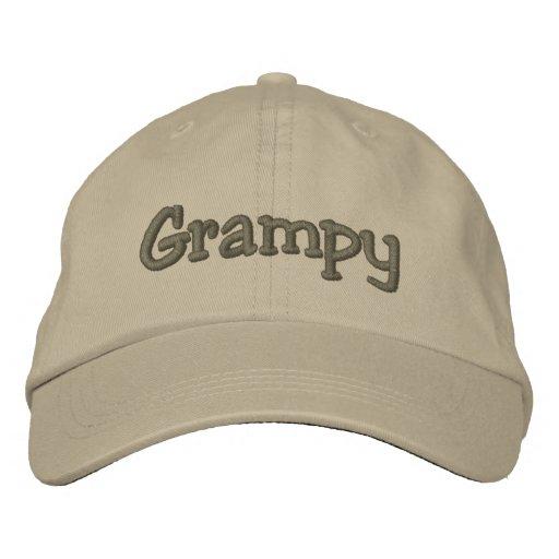 Grampy Khaki Embroidered Baseball Cap / Hat