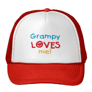 Grampy Loves Me T-shirts and Gifts Cap
