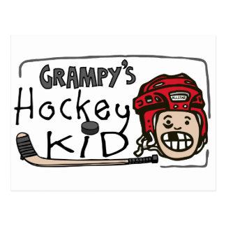 Grampy s Hockey Kid Post Cards