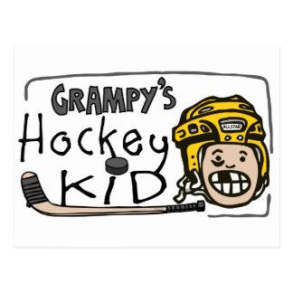 Grampy s Hockey Kid Postcard