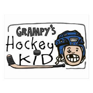 Grampy s Hockey Kid Postcards