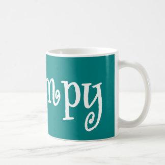 Grampy Teal And White Coffee Mug