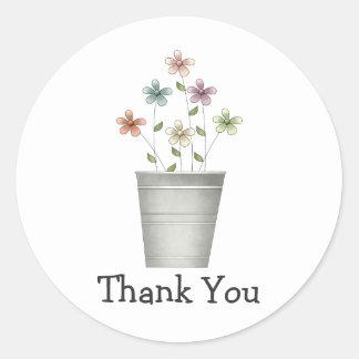 Gram's Garden · Flowers in Bucket Round Sticker